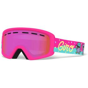 Giro Rev Goggles disco birds/amber pink